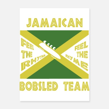 Team Work Jamaican Bobsled Team - Poster