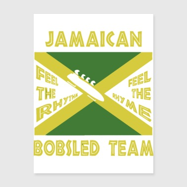 Jamaican Bobsled Team - Poster 18x24