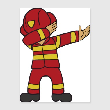 Dabbing Dab Firefighter - Poster 18x24