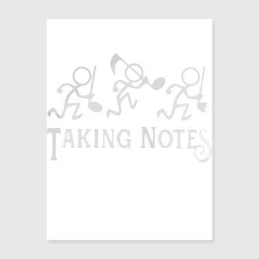 Musician Teacher Taking Notes - Poster 18x24