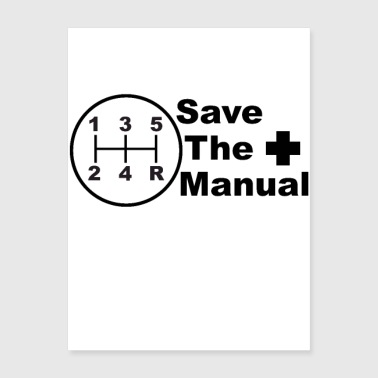 Save The Manual Decal - Poster 18x24