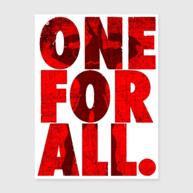 one for all - Poster 18x24