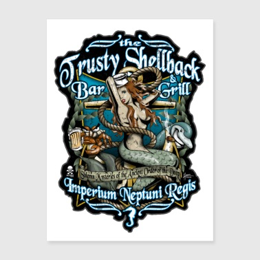 Trusty Shellback Bar & Grill - Poster 18x24