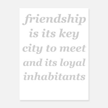 Friendship friendship its key - Poster