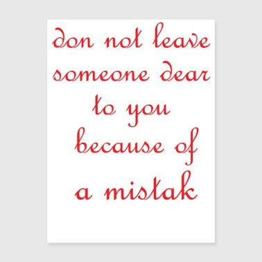 dont leave someone - Poster 18x24
