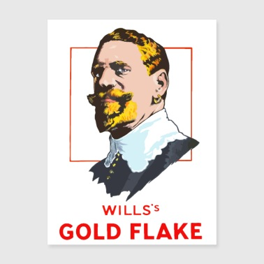 GOLD FLAKE - Poster 18x24