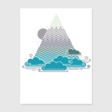 cloud mountain - Poster 18x24