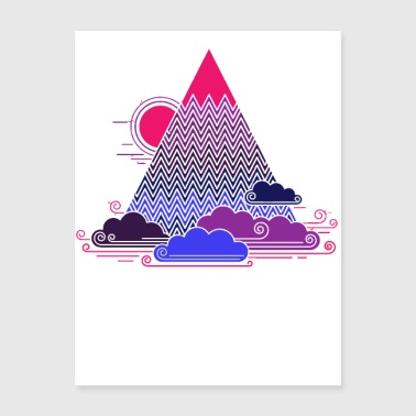 cloud mountain white - Poster 18x24