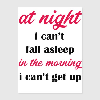 at night i can't fall asleep - Poster 18x24