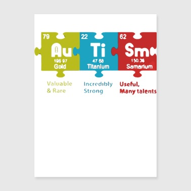 Autism valuable and rare incredibly strong useful - Poster 18x24