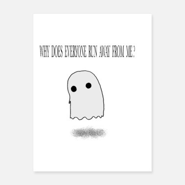 Sheet Cute Ghost Nice Gift Kids - Poster