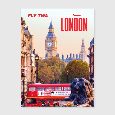 Vintage London Travel Poster - Poster 18x24