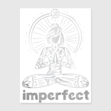 Imperfect zen yoga - Poster 18x24