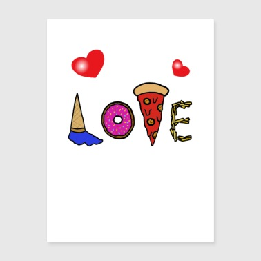 Love with sweets - Poster 18x24