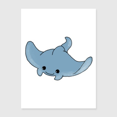 Sweet ray Manta baby children children gift - Poster 18x24