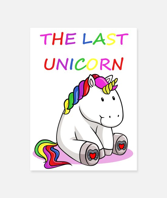 Last Posters - The Last Unicorn - Poster white