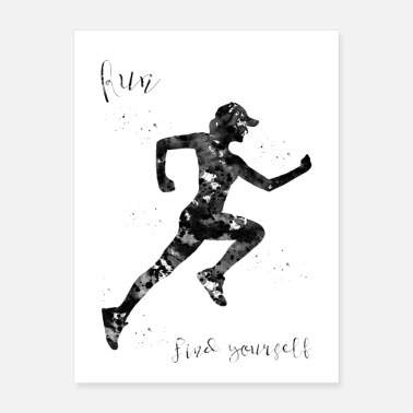 Sprinting Run, find yourself - Poster