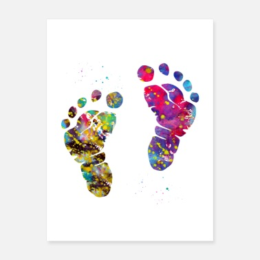 Baby Baby feet - Poster
