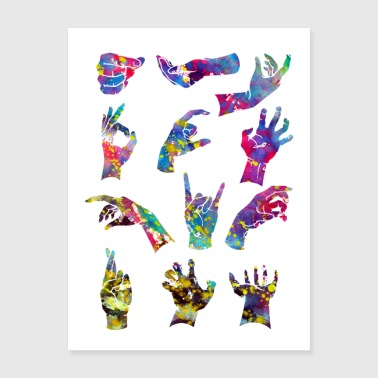 Hand signs - Poster 18x24