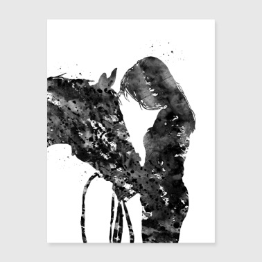 Girl with horse - Poster 18x24