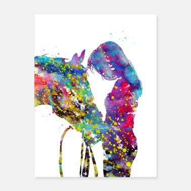 Girls Girl with horse - Poster