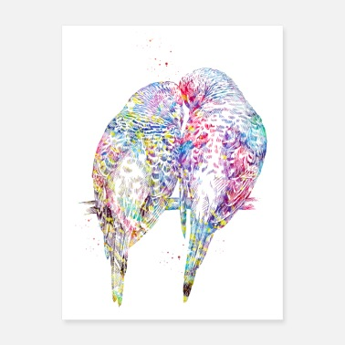 Parrot Parrots in Love - Poster