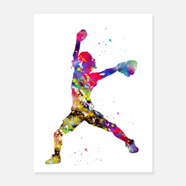 Softball Baseball Softball Pitcher - Poster