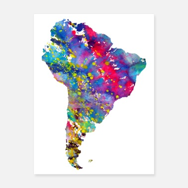 South South America map - Poster