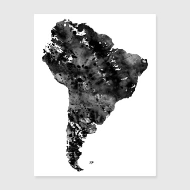 South America map - Poster 18x24