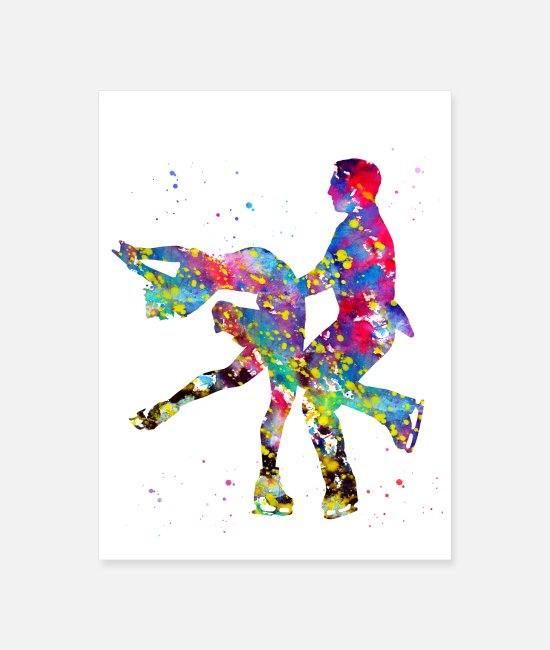 Art Posters - Ice Dancer - Poster white