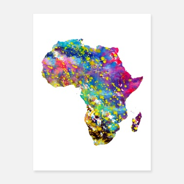 Maps Africa map - Poster