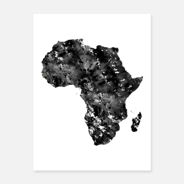 Africa Africa map - Poster