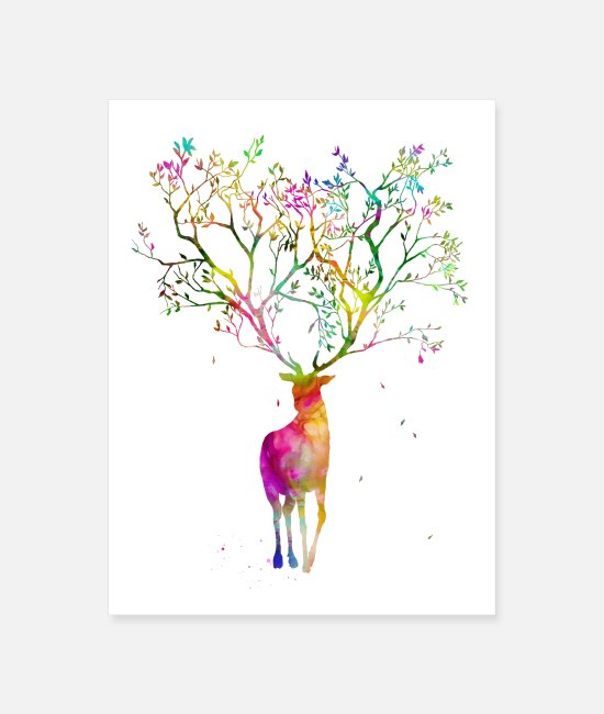 Stag Posters - Stag - Poster white