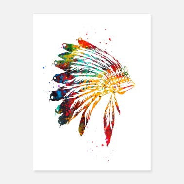 Headdress Chief Headdress - Poster