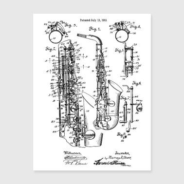 Shop Saxophonist Wall Art online | Spreadshirt