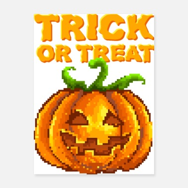 Trick Or Treat Halloween Jack-O-Lantern - Poster 18x24