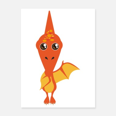Dino Pterodactyl Dino welcome you to the Dino World - Poster