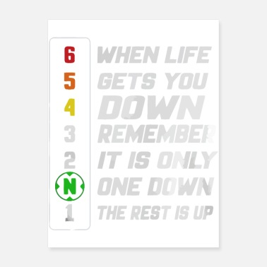 Supermoto When life gets you down remember it's one down the - Poster