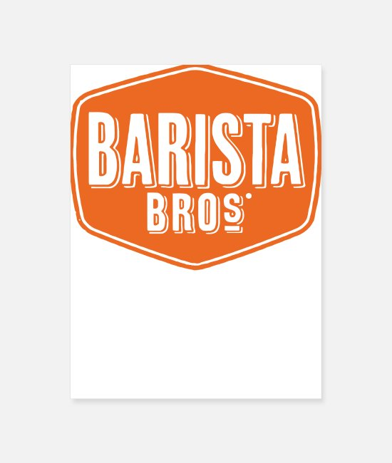 Heart Posters - Barista Coffee - Poster white