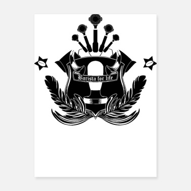 Most Popular Selling Barista Crest - Poster