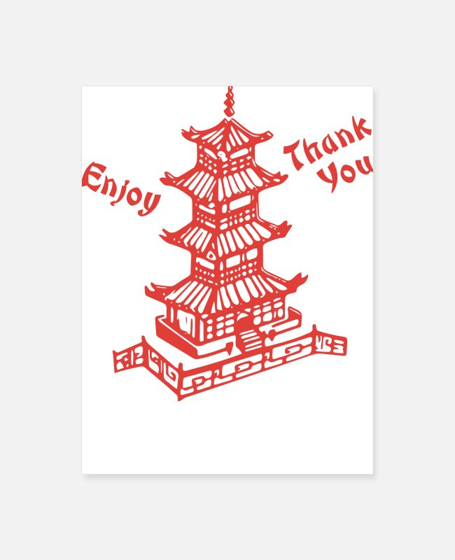 Take-Away Posters - Chinese Food Take Out - Poster white