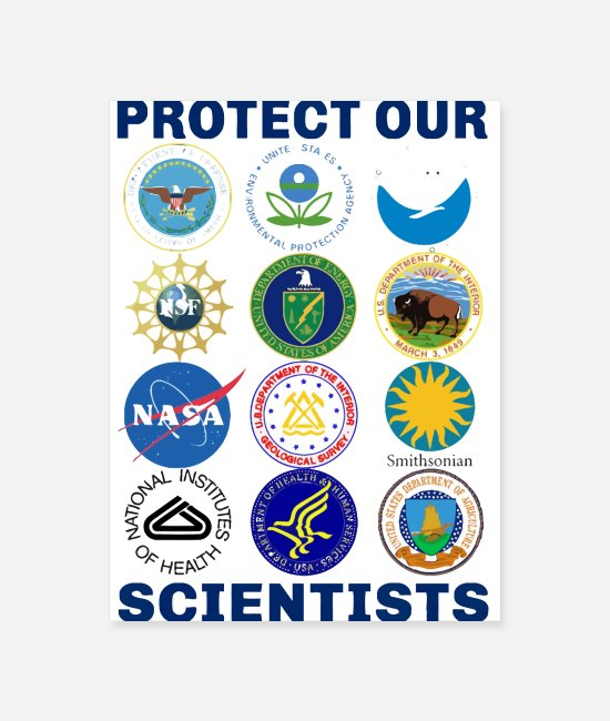 Proud Posters - Protect Our Scientists Science March Pro Science - Poster white