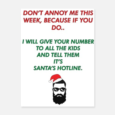 Jokes DON'T ANNOY ME CHRISTMAS FUNNY JOKE - Poster