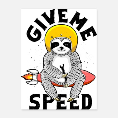 Super Bike give me speed - Poster