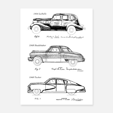Classic Car Classic American Cars Patent Art - Poster