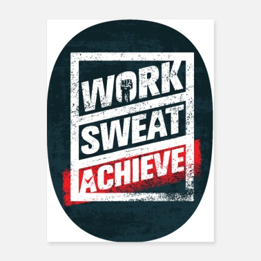 Crossfit WORK SWEAT ACHIEVE - Poster