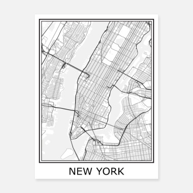 York New York City Map - Poster