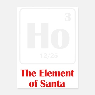 Elements the element of santa - Poster