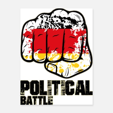 Demo political battle- germany - Poster