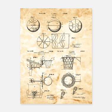 Vintage Basketball Equipment Patent Prints Combo - Poster 18x24